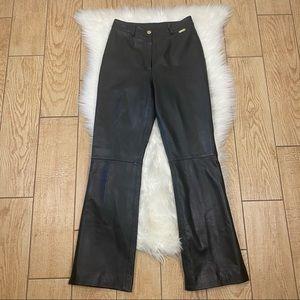 ST. JOHN SPORT Leather Pants High Rise Black 4
